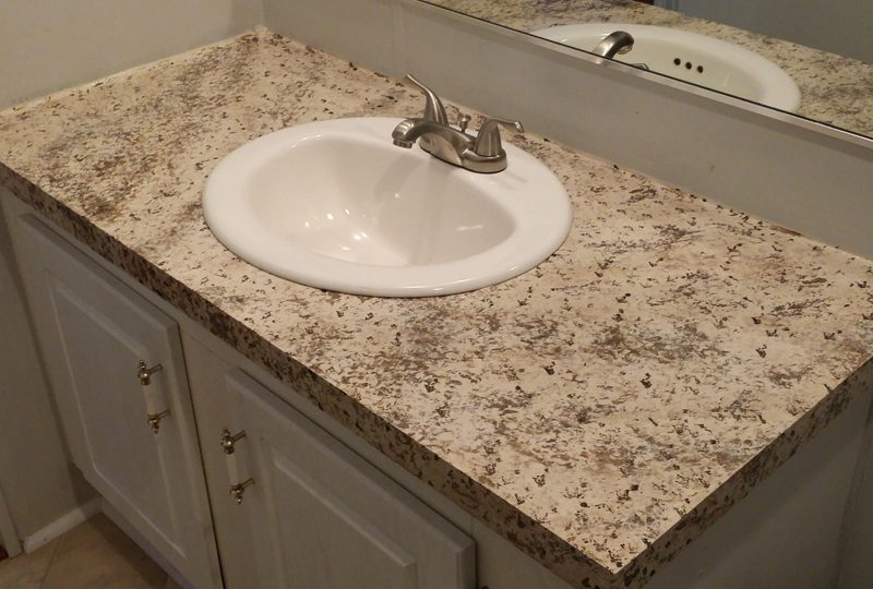 A refinished quarts countertop in bathroom